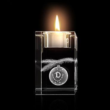 Glas Teelichthalter Dynamo-Christbaumkugel