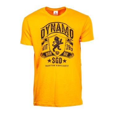 T-Shirt Dynamo verpflichtet gelb