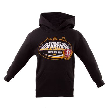 Kinder-Kapuzensweater Dynamo Dresden schwarz