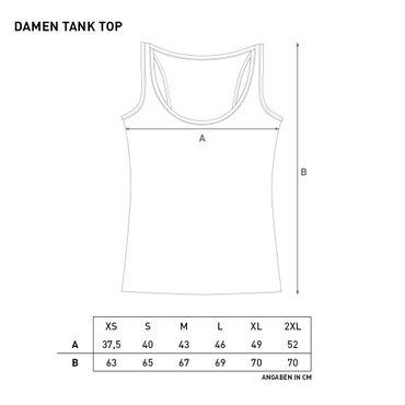 Tank Top Damen vintage schwarz
