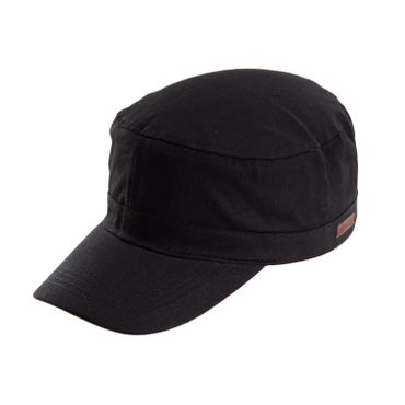 Army Cap Lederpatch schwarz