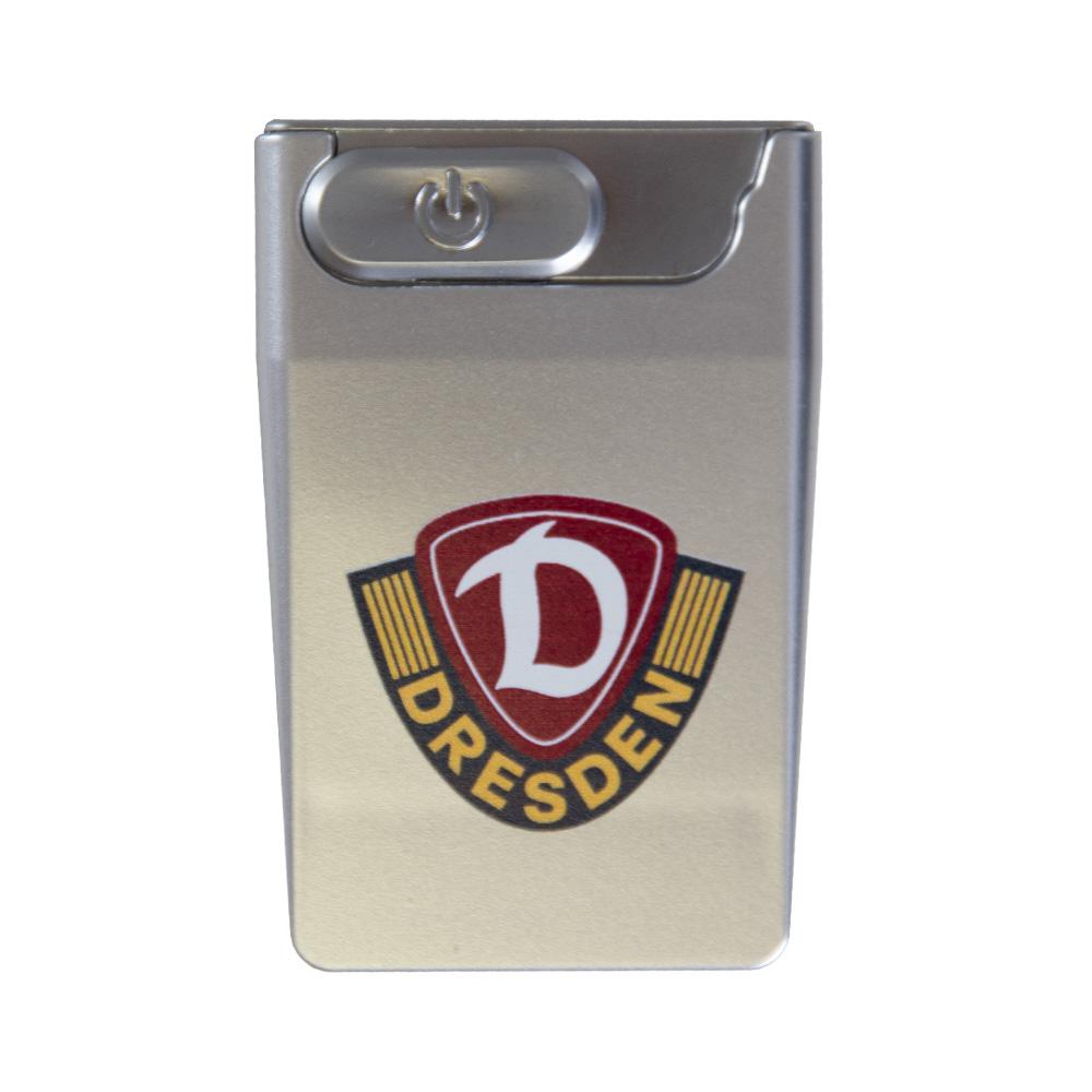 USB Feuerzeug LOGO silber