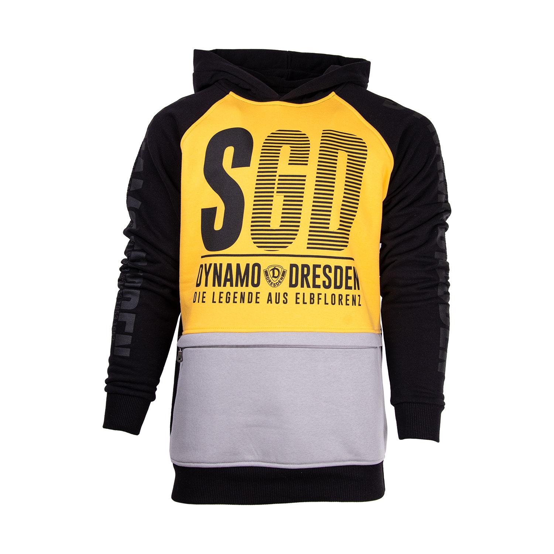Kapuzensweater All-Over gelb