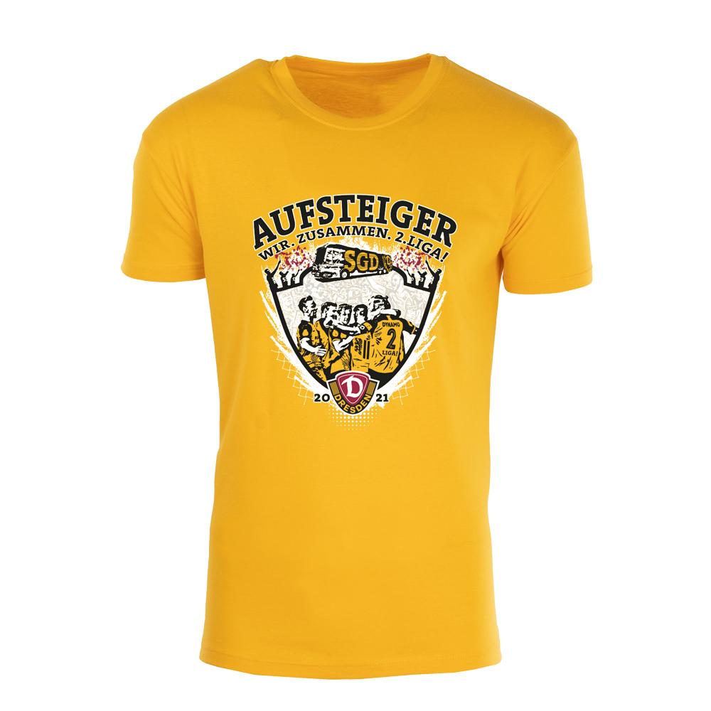 Herren T-Shirt AUFSTIEG gelb