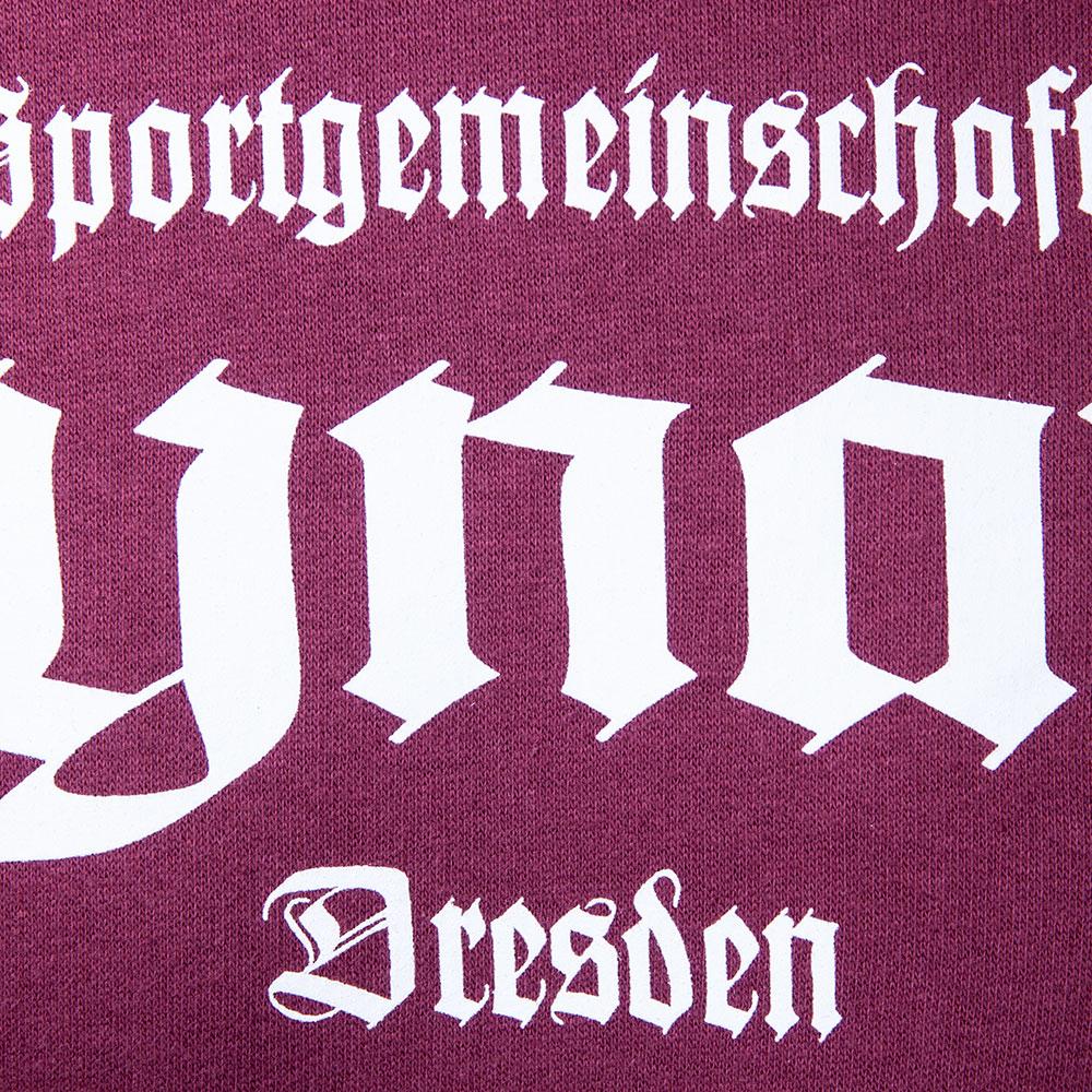 SG Dynamo Dresden Kapuzensweater Old School weinrot