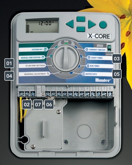 Hunter X Core 801 8 Station 230 240 Vac Outdoor Controller With Plastic Cabinet Irritop Gmbh