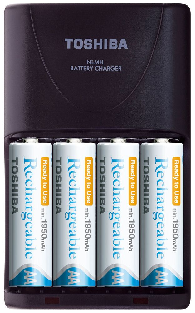 Toshiba Charger 4 AA Rechargeable Batteries