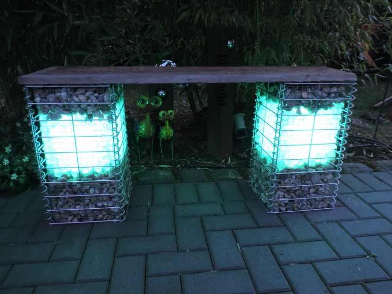 Gabionen Beleuchtung