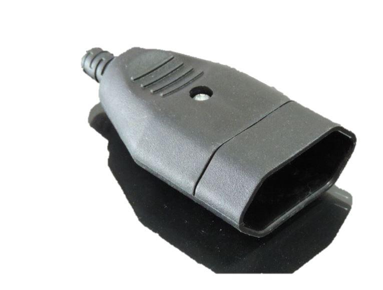 Eurokupplung schwarz Flachkupplung Hülse 230Volt