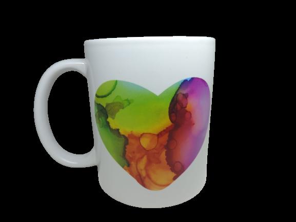 """Subli Kaffee Becher Tasse""""Herz"""" Spülmaschinenfest Geschenk Kaffetasse Handmade, Kaffetassen, eingedampft, plotter, Themen Tassen, Srüch, Sprüche, Pandemie, Covid,"""