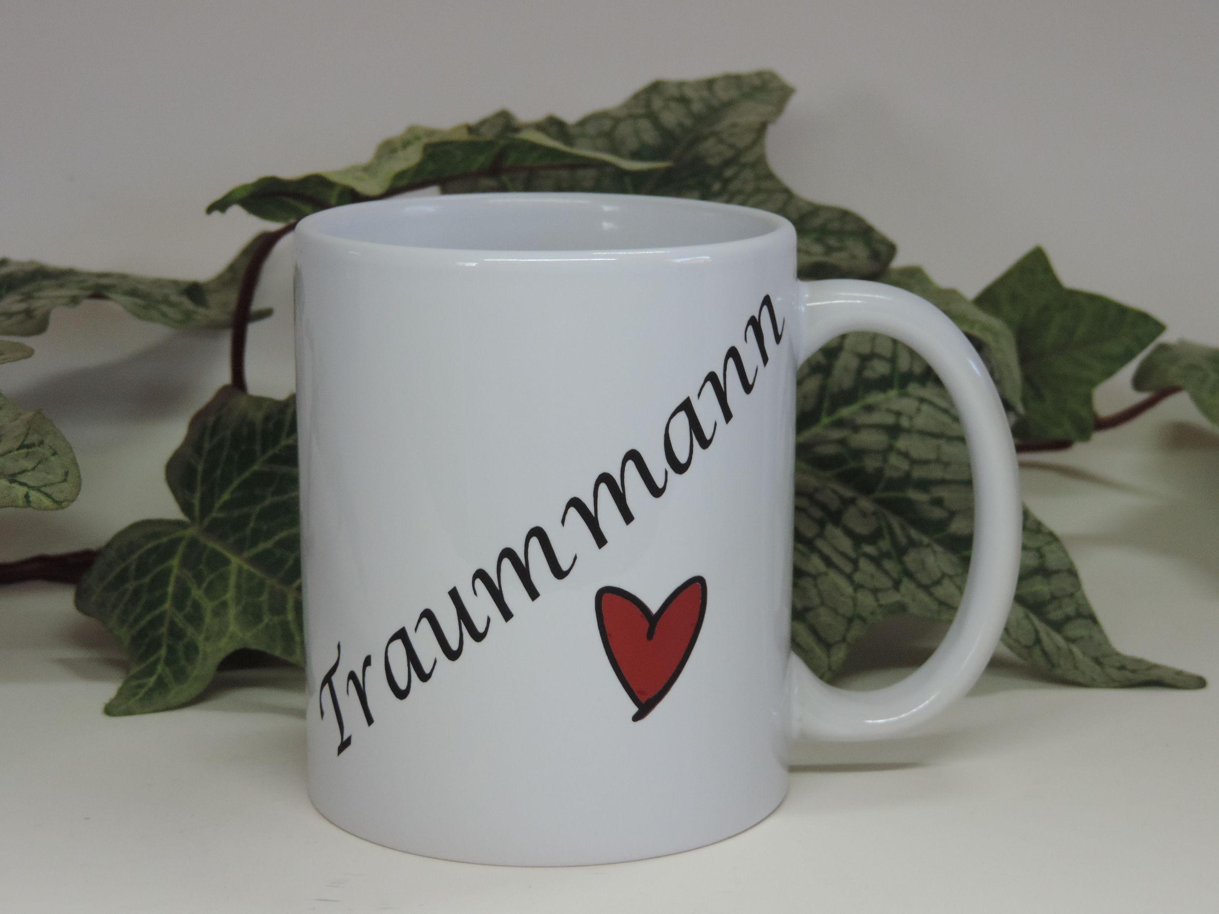 2er Set Kaffee Becher Tasse Pot Traummann/Traumfrau Geschenk Sprüchebeche ,Kaffetasse , Aufkleber Venyl, plotter, Themen Tassen, Srüch, Sprüche, Pandemie, Covid,