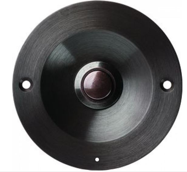 Klingeltaster Drücker Kontaktschale UP Bronzeguß brüniert rund 70mm