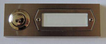 Klingeltaster Klingelkontakt Knopf edelstahl optik 95x36 Aufputz