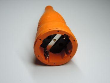 Schuko Kupplung Orange Gummi ABL – Bild 2