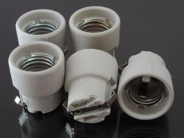 5 x E27 Fassung Lampenfassung Keramik