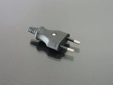 Eurostecker Flachstecker 230 Volt Schwarz schraubbar – Bild 2