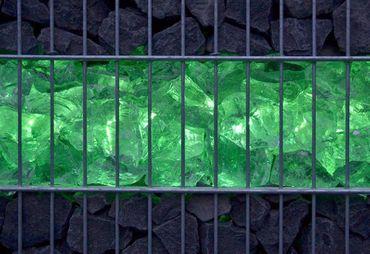 Led Gabionen Beleuchtung 45cm RGB mit FB 360° – Bild 2