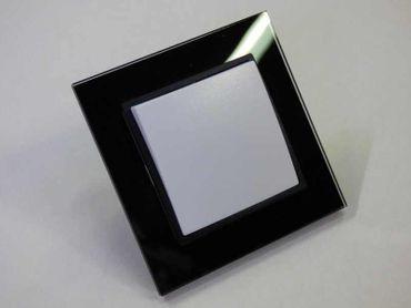 Wechselschalter mit Glas Rahmen schwarz Abelka N – Bild 1