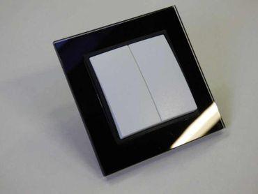 Serienschalter mit Glas Rahmen schwarz Abelka N