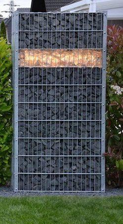 Led Gabionen Beleuchtung 0,85m warmweiß Stein Zaum Mauer – Bild 1
