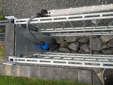 Led Gabionen Beleuchtung 0,85m 360° kaltweiss Steinmauer Zaun – Bild 4