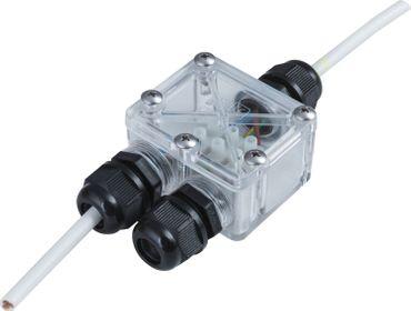 2fach Verbindungsbox-Verteiler Verbinder klar Erdkabel 3pol  IP67 230V – Bild 2