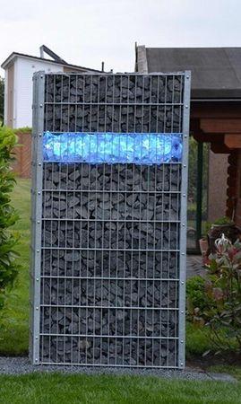 Led Gabionen Beleuchtung LED 45cm länge 360° Farbe blau Garten Deko – Bild 1