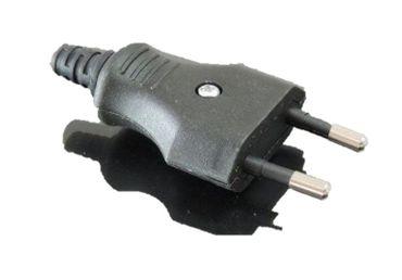 Eurostecker schwarz Flachstecker Hülse 2-polig 230 Volt  – Bild 1