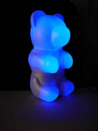 LED Niki Bärleuchte Nikki Bärenleuchte Nachtlicht Deko 12Volt blau – Bild 3