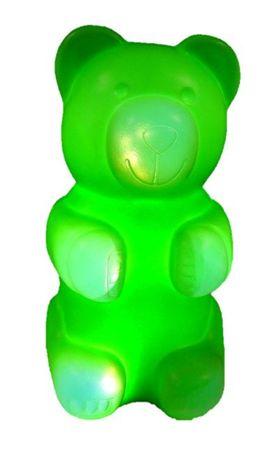 LED Niki Bärleuchte Nikki Bärenleuchte Nachtlicht Deko 12Volt grün  – Bild 1