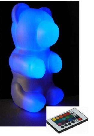 Led RGB Niki Bär Bärenleuchte Deko Lampe farbwechselnd mit Fernbedienung – Bild 1