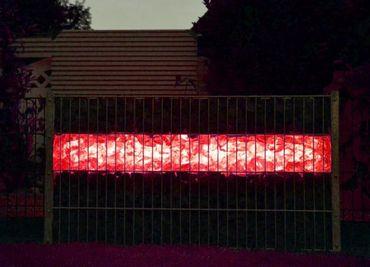 Led Gabionen Licht Beleuchtung LED 2x0,9m länge 360° Farbe rot Garten    – Bild 1