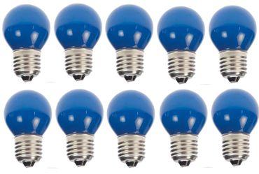 10er Set Blaue LED Tropfenlampe Party Glühbirne Biergartenkette – Bild 2