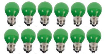 10er Set Grüne LED Tropfenlampe Party Glühbirne Biergartenkette Tropfen    – Bild 1