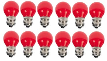 10er Set Rote LED Tropfenlampe Party Glühbirne Biergartenkette Tropfen    – Bild 1