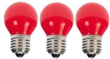 3er Set Rote LED Tropfenlampe Party Glühbirne Biergartenkette Tropfen    – Bild 1