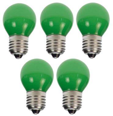 5er Set grüne LED Deko Tropfenlampe Party Glühbirne Biergartenkette Tropfen    – Bild 1