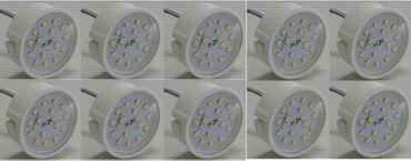 10xLed Flat Flach Modul Birne Lampe 230Volt 50x23mm neutralweiss Einbau 25mm