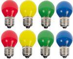 8er Set LED Tropfenlampe bunt gemischt Party Glühbirne Dekokette Tropfen   001