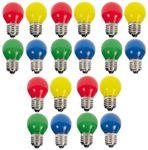 20er Set LED Tropfenlampe bunt gemischt Glühbirne Dekokette Tropfen