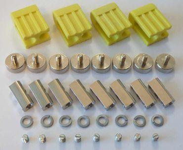 4xLed Fassung Lampenhalter Lampenfassung für GX5,3 Led oder Halogen gelb – Bild 1