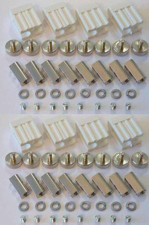 8xLed Fassung Lampenhalter für GX5,3 Led oder Halogen weiß   – Bild 1