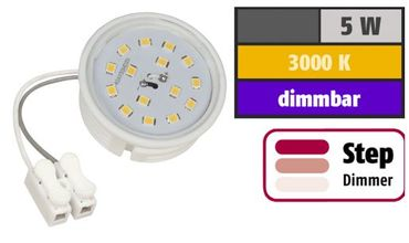 Led Flat Flach Modul 3step dimmbar 230Volt 50x23mm warmweiss 5Watt – Bild 3