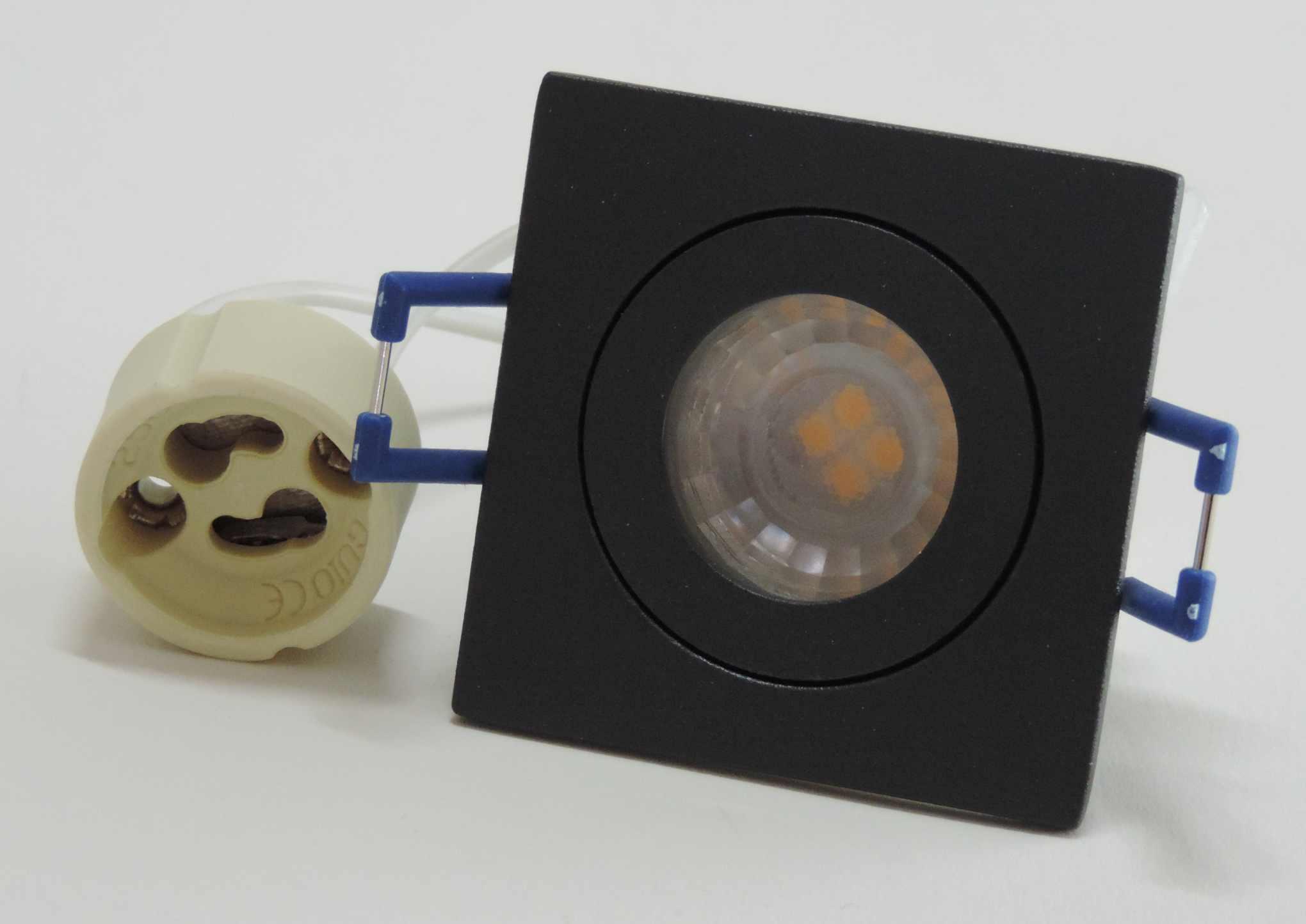 led bad feuchtraum spot anthrazit eckig mit 35mm led. Black Bedroom Furniture Sets. Home Design Ideas