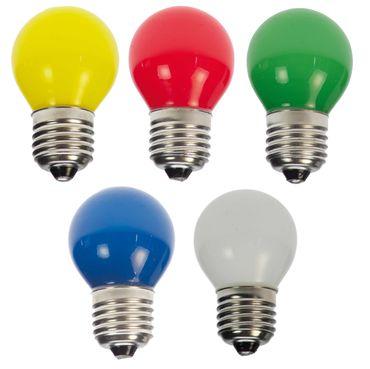 50er Set LED Tropfenlampe bunt gemischt Party Glühbirne Dekokette Tropfen – Bild 1