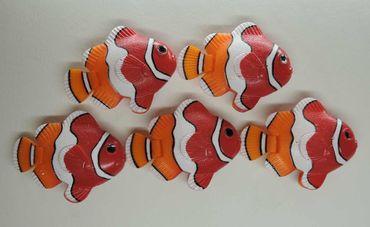 5xDeko Fische Clownfische Nemo Schwimmer Wassersäule Sprudler – Bild 2