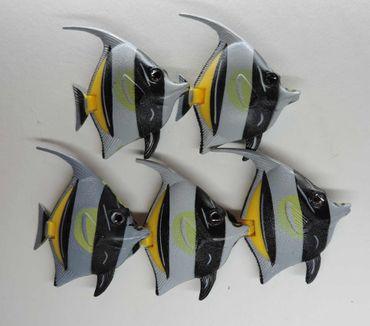 5xDeko Fische Skalar grau Mimo Schwimmer Wassersäule Sprudler – Bild 2