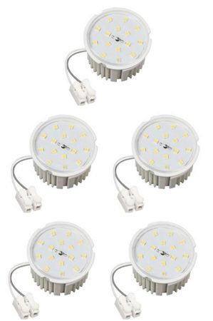 5xLed Flat Flache Birne Lampe warmweiß 7Watt 50x33mm 230 Volt für Einbauspots