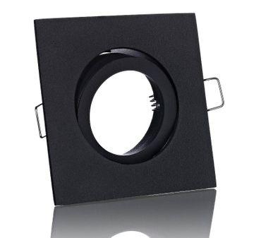 10xFlat Flacher Led Einbaustrahler schwarz matt eckig+COB 38° 5W dim. ww. 230V – Bild 3
