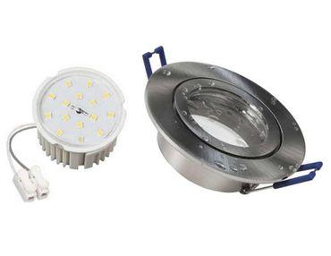 3xFlache Flat Led Feuchtraum Einbauspot nm+neutralweiß Led Höhe nur 30mm 230V  – Bild 1